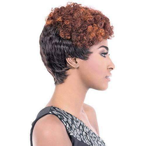 GGC-Bian - Short Length Curly Synthetic Wig | Motown Tress | African American Wigs - African American Wigs