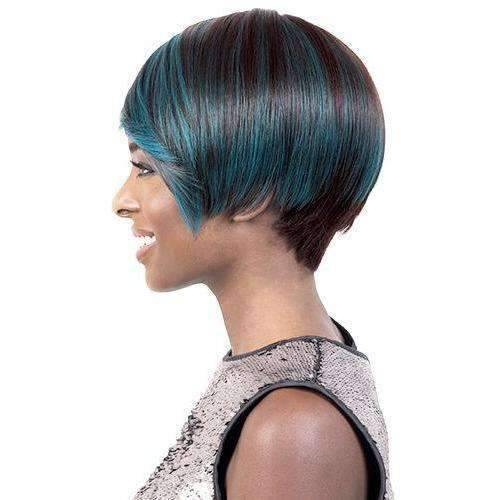 GGC-Kiku - Short Length Straight Synthetic Wig | Motown Tress | African American Wigs - African American Wigs
