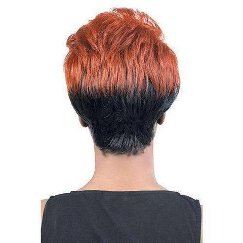 Image of GGC-Nubi - Short Length Wavy Synthetic Wig | Motown Tress - African American Wigs