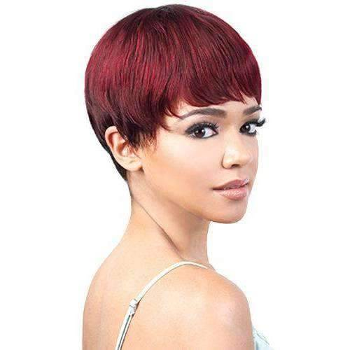 GGH-Avis - Short Length Straight Human Hair Wig | Motown Tress | African American Wigs - African American Wigs