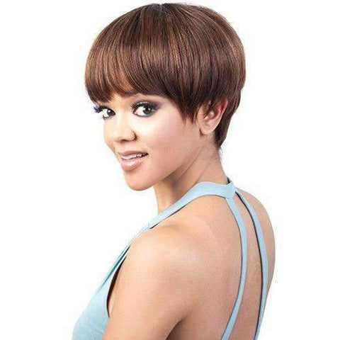 GGH-Davy - Short Length Straight Human Hair Wig | Motown Tress | African American Wigs - African American Wigs