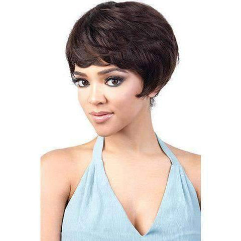 Image of GGH-Easy - Short Length Wavy Human Hair Wig | Motown Tress | African American Wigs - African American Wigs