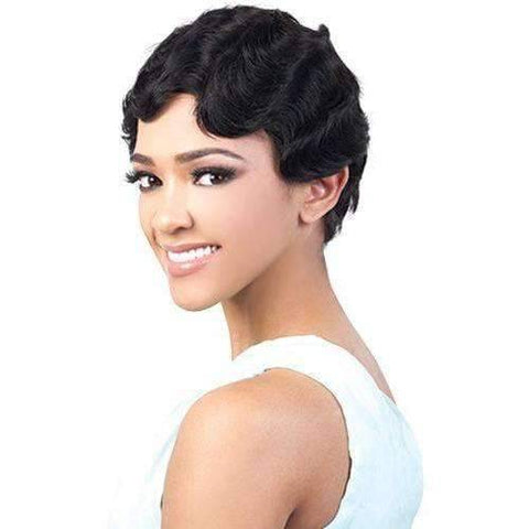 Image of GGH-Floy - Short Length Wavy Human Hair Wig | Motown Tress | African American Wigs - African American Wigs