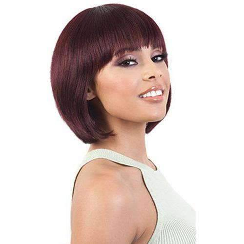 GGH-Maki - Medium Length Straight Human Hair Wig | Motown Tress | African American Wigs - Medium Length Wigs