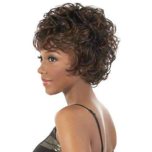 Glam - Short Length Curly Synthetic Wig | Motown Tress | African American Wigs - African American Wigs