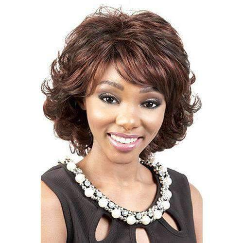 Godiva - Medium Length Curly Synthetic Wig | Motown Tress | African American Wigs - African American Wigs