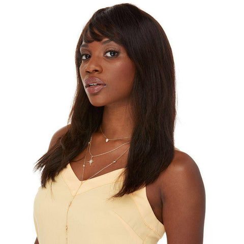 Image of H Britney Long Layered Remy Human Hair Wig by Elegante - African American Wigs