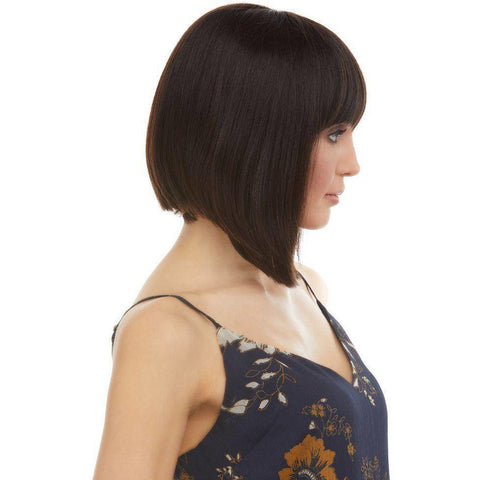 Image of H JAYLYN Medium Straight Bob Remy Human Hair Wig by Elegante - African American Wigs