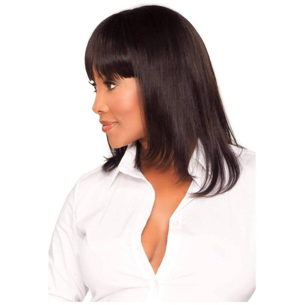 H202-V | Human Hair Medium Length Wigs (Traditional Cap)