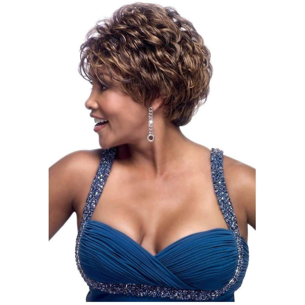 H209-V | Human Hair Wig (Traditional Cap) - African American Wigs