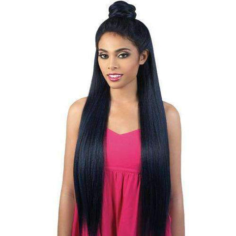 HB 360 Lace Front Super Long Human Hair Blend Wig by Motown Tress - African American Wigs