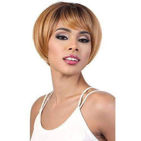 HB-Effie - Short Length Straight Human Hair Blend Wig | Motown Tress | African American Wigs - African American Wigs