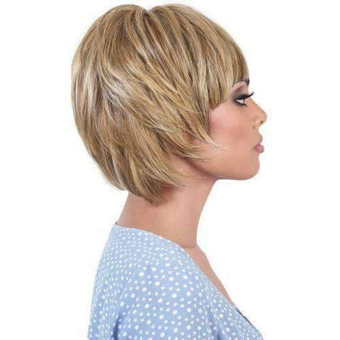 HB-Glen - Short Length Straight Human Hair Blend Wig | Motown Tress | African American Wigs - African American Wigs