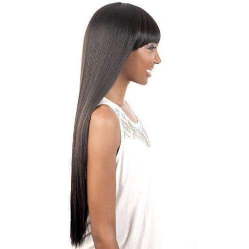 HB-Jewel - Long Length Straight Human Hair Blend Wig | Motown Tress | African American Wigs - African American Wigs