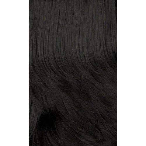 Image of HB-Latifa - Long Length Curly Human Hair Blend Wig | Motown Tress | African American Wigs - African American Wigs