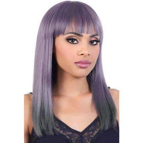 HB-Nela - Long Length Straight Human Hair Blend Wig | Motown Tress | African American Wigs - African American Wigs