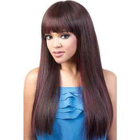 Image of HB-Oska - Long Length Straight Human Hair Blend Wig | Motown Tress | African American Wigs - African American Wigs