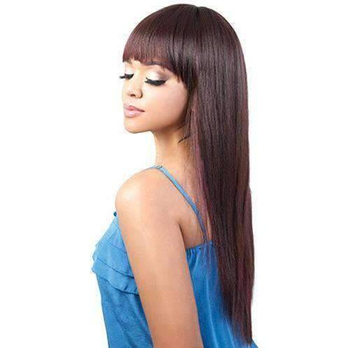 HB-Oska - Long Length Straight Human Hair Blend Wig | Motown Tress | African American Wigs - African American Wigs