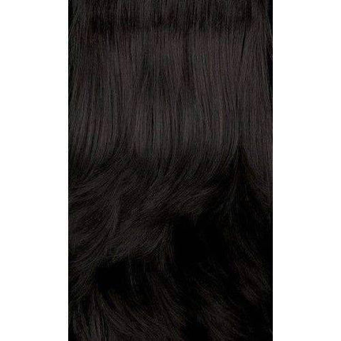 Image of HB360L.BAE - Long Length Curly Human Hair Blend Wig | Motown Tress - African American Wigs