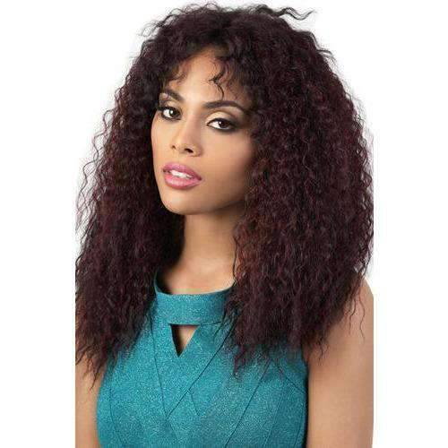HBLDP.Mel - Long Length Curly Human Hair Blend Wig | Motown Tress | African American Wigs - African American Wigs