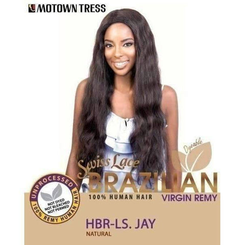HBR-LS. JAY | Remy Human Hair Wig (Swiss Lace Front) - African American Wigs