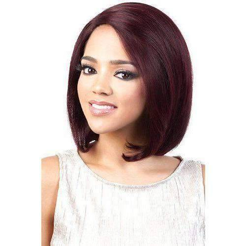 HBR-LSP.07 - Medium Length Straight Human Hair Wig | Motown Tress | African American Wigs - African American Wigs