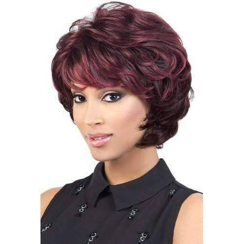 Heidi-Motown Tress Synthetic Hair Wig Short in Color #1BWF30 - African American Wigs