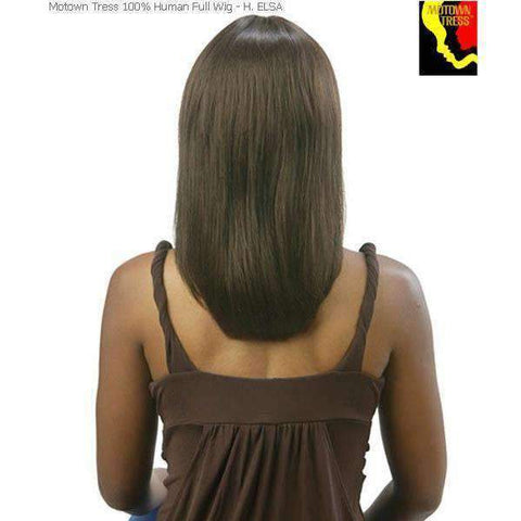 Image of H.Elsa-Motown Tress 100% Human Hair Wig Long in Color #4 - African American Wigs