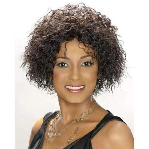 H/H JERRY - Carefree Human Hair in Color #1 - African American Wigs