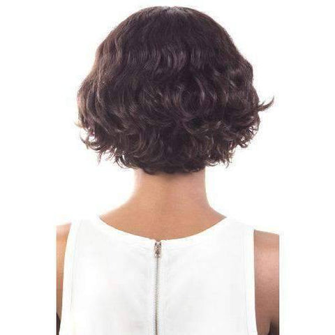 Image of HIR-Cute - Short Length Wavy Human Hair Wig | Motown Tress | African American Wigs - African American Wigs