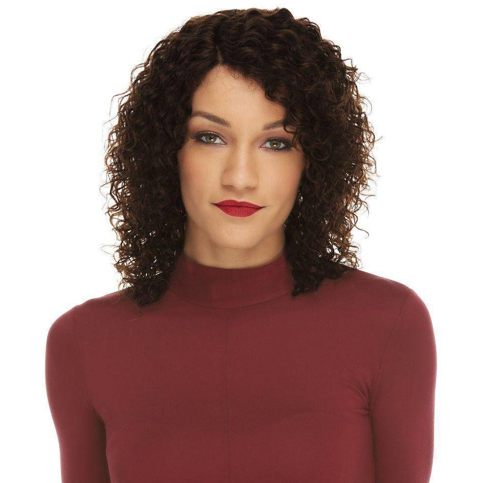 HL KENNA Short Spiral Remy Human Hair Wig by Elegante - African American Wigs