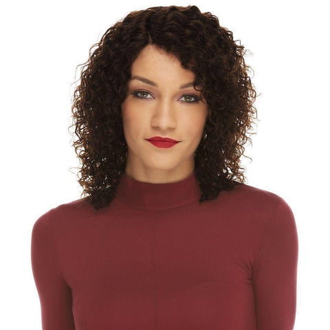 Image of HL KENNA Short Spiral Remy Human Hair Wig by Elegante - African American Wigs