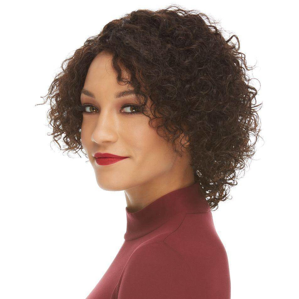HL NOREEN Short Curly Bob Remy Human Hair Wig by Elegante - African American Wigs