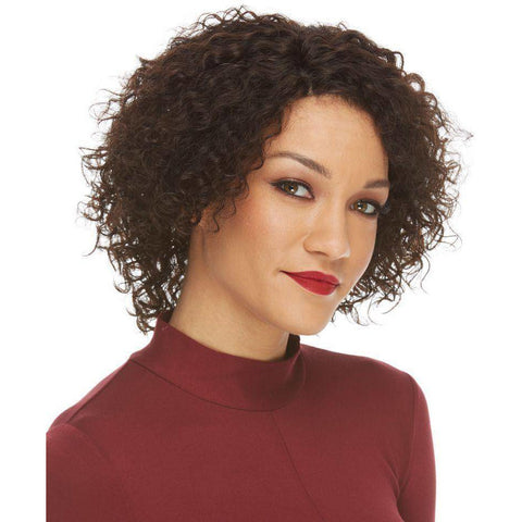 Image of HL NOREEN Short Curly Bob Remy Human Hair Wig by Elegante - African American Wigs