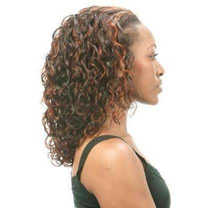 HMF-33 - Medium Length Curly Human Hair Wig | Motown Tress - African American Wigs