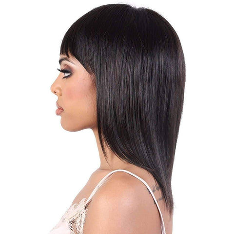 HNB.Fin - Long Length Straight Human Hair Wig | Motown Tress - African American Wigs