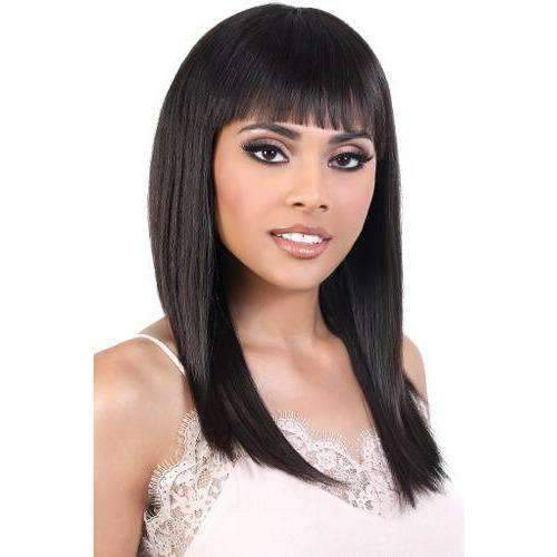 HNB.Kyna - Long Length Straight Human Hair Wig | Motown Tress - African American Wigs