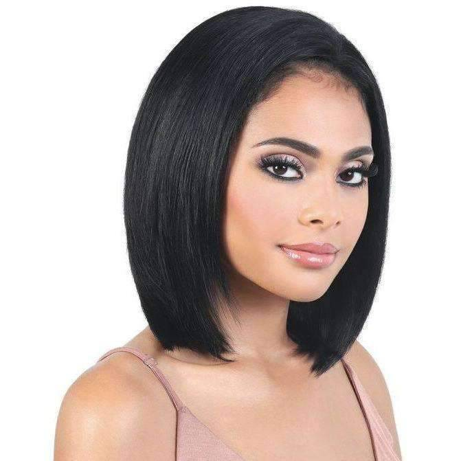 HPL3.Brit - Long Length Straight Human Hair Wig | Motown Tress - African American Wigs