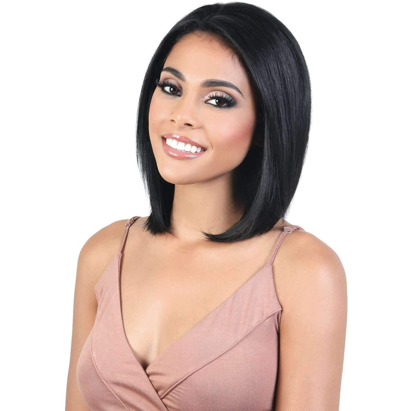 HPL3.BRIT - Long Length Straight Persian Human Hair Wig | Motown Tress - African American Wigs