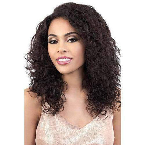 Image of HPL3.Elen - Long Length Curly Human Hair Wig | Motown Tress - African American Wigs
