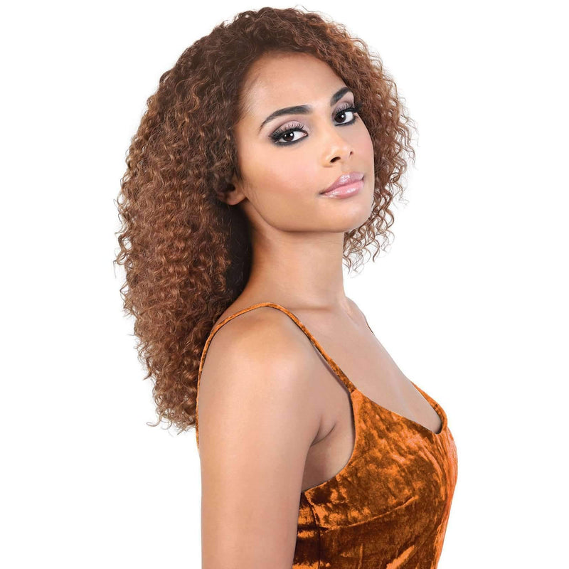 HPL3.KONA - Long Length Curly Persian Human Hair Wig | Motown Tress - African American Wigs