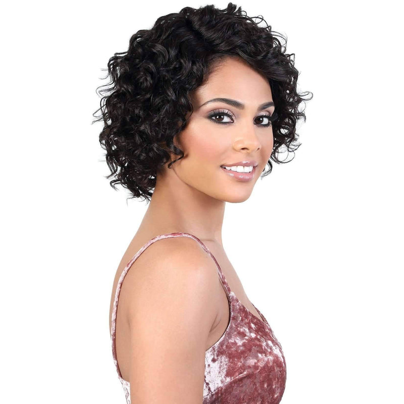 HPLP.Alma - Medium Length Curly Persian Human Hair Wig | Motown Tress - Medium Length Wigs