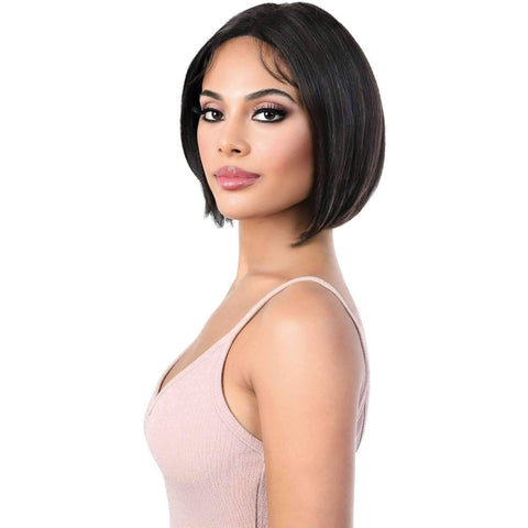 Image of HPLP.Cole - Medium Length Straight Virgin Remi Human Hair Wig | Motown Tress - African American Wigs