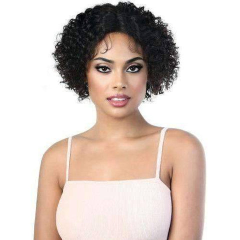 Image of HPLP.Jojo - Short Length Curly Virgin Remi Human Hair Wig | Motown Tress - African American Wigs