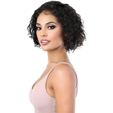 Image of HPLP.Kist - Short Length Curly Virgin Remi Human Hair Wig | Motown Tress - African American Wigs