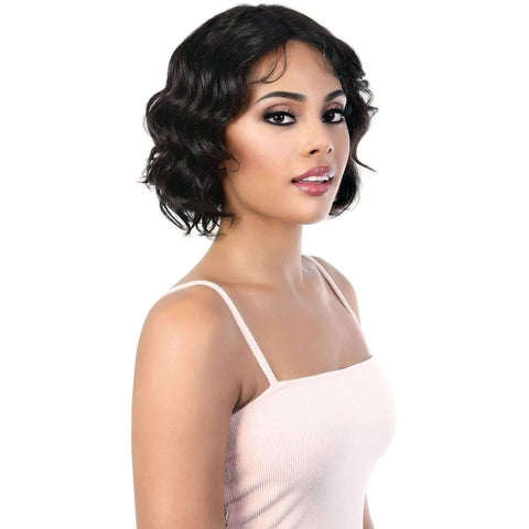 Image of HPLP.Ruby - Short Length Curly Virgin Remi Human Hair Wig | Motown Tress - African American Wigs