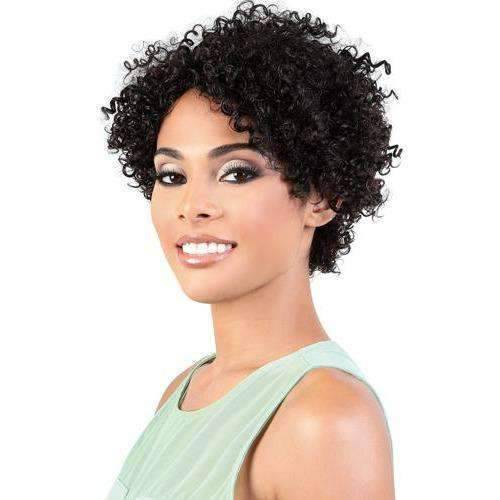 HPR.ADEN - Short Length Curly Persian Human Hair Wig | Motown Tress - African American Wigs