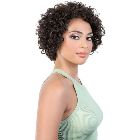 Image of HPR.ASPEN - Short Length Curly Persian Human Hair Wig | Motown Tress
