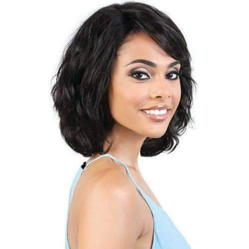 HPR.ERIE - Medium Length Wavy Persian Human Hair Wig | Motown Tress - African American Wigs