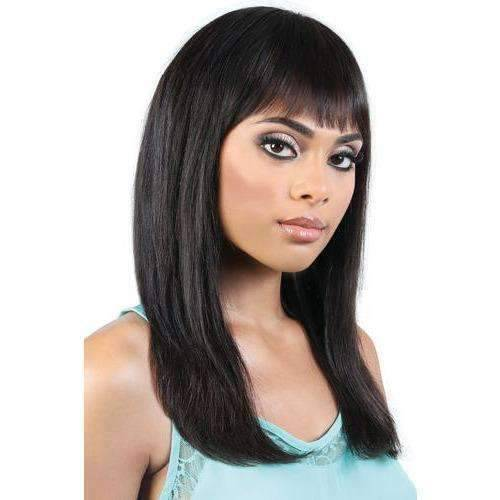 HPR.GRETA - Long Length Straight Persian Human Hair Wig | Motown Tress - African American Wigs